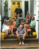 """Най-големият късмет!!! Цялата """"familia grande"""" - Саша, щерките Яна и Неда, зетьовете Доналд и Лев, нашата малка принцеса София, юнаците Джордан, Доналд, Кристофър и Джона. Кейп Мей Поинт, Ню Джърси. Август, 2017 г."""